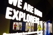 """An interactive display called """"Who Innovates?"""" allows guests to see themselves as innovators."""