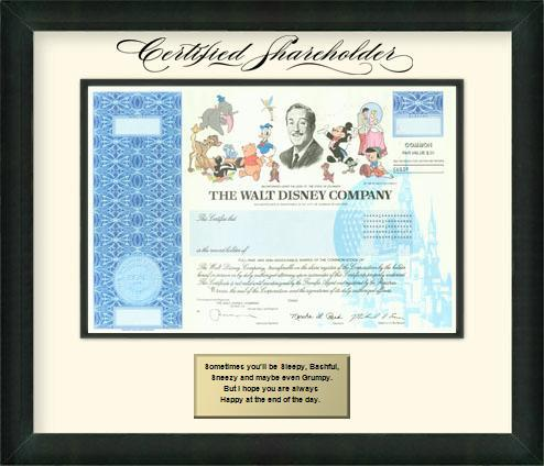 Disney's popular stock certificate is rolling into history.