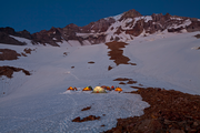 The Glacier Caves crew dubbed their Mt. Hood home Kamp Tenacious.