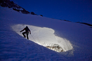 Mountaineer Eddy Cartaya spent two years mapping the Glacier Caves with Brent McGregory.