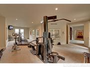 The mansion also has an exercise room.