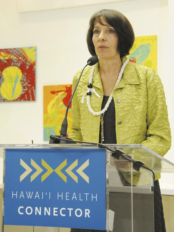 Coral Andrews, executive director of the Hawaii Health Connector, is seen in this September file photo.