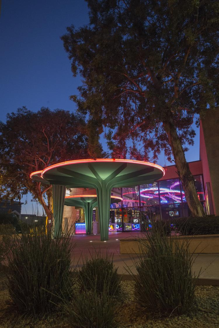 Camelview 5, operated by Harkins Theatres Inc., faces an uncertain future. The land it sits on is owned by Macerich Co., which is planning to build a megaplex at Scottsdale Fashion Square that could consolidate Camelview and another theater inside the mall.