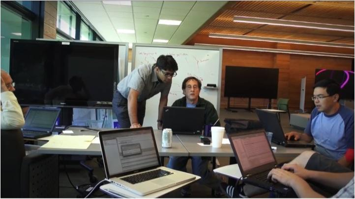 Researchers work at IBM's new Big Data lab at its Almaden facility in San Jose.
