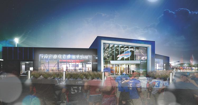 As part of the $130 million in renovations at Ralph Wilson Stadium, a Buffalo Bills store is planned for the Abbott Road entrance.
