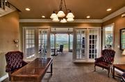 The french doors add another touch of elegance and frame the Hill Country views.