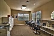 The 3,588-square-foot space includes various office configurations.