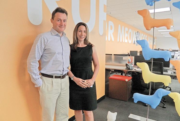 Chris and Natasha Ashton, co-founders of PetPlan, recently moved into their new space at the Ellis Preserve in Newtown Square.