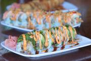 Drake's has many sushi items on the menu, including the Chicago roll.