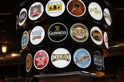 Many beers are available on tap, including some local and regional brews.