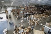 Motion sensors in the Trane Supply and Distribution Building trigger lights to save energy.