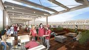 When it's finished, Levi's Stadium in Santa Clara will feature a rooftop viewing area with solar panels and a landscaped green roof, which will retain stormwater runoff and also act as insulation.