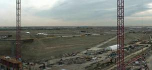 The view from DIA's construction cam at 5:07 p.m. MDT Friday, March 22.