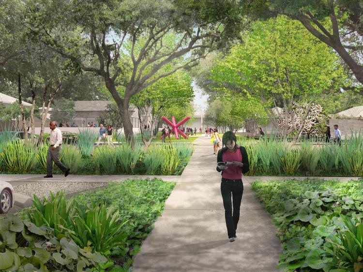 An artist's rendering of the Menil Collection's 30-acre campus following its planned landscape redesign  Click through the slideshow to see more renderings of the future of the campus