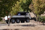 Newton uses Pingzauer personnel carriers to take guests up the steep mountain roads to the production facility and caves.
