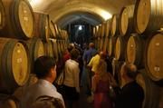 The Best in Business group tours the wine caves at Newton Vineyard.