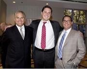 Adam Van Coops, general manager of Maserati of Sacramento; Eric Niello, general manager of Land Rover Rocklin and Dennis Raymond, senior VP market manager of Farmers & Merchants Bank, pose at the Metro Chamber's Perspectives on Winning event.