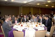 Attendees at a table at the Metro Chamber's Perspectives on Winning event.