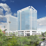 Rendering: A look at <strong>Portman</strong>'s office project in uptown Charlotte