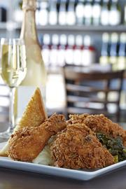 Fried chicken & champagne at Max's Wine Dive