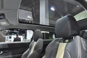 The Range Rover Evoque Coupe has a full glass panoramic roof with integrated power sun blind at the Denver Auto Show.