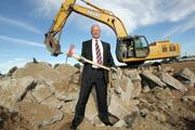 Scott Throckmorton recently had an old industrial building demolished to take advantage of an opportunity at 6701 Jefferson St. NE. He and a group of investors will eventually develop the land for office, banking and retail uses.