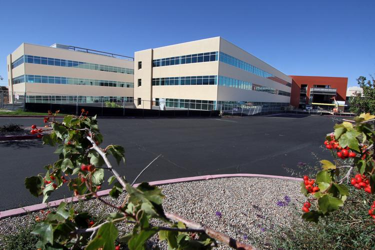 Presbyterian Healthcare Services is building a new $22 million corporate headquarters. The project, near Balloon Fiesta Park, is nearing completion. It's shown here in an October file photo.