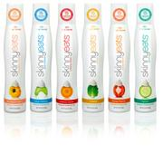 The lineup of SkinnyEats dressing -- each comes in a 2-ounce container.