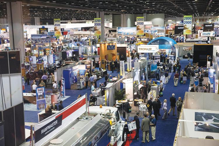 The floor at NBAA's annual convention will again be packed in 2013. The organization expects some 1,100 exhibitors  and 500,000 visitors to join it in Las Vegas for this year's event.