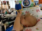 """Jordan Janeway played in Seattle Children's Hospital earlier this year. Jordan was hospitalized for Severe Combined Immunodeficiency (SCID), better known as """"bubble boy"""" disease. Jordan died in July, two days shy of his 9-month birthday."""