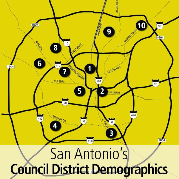 Potion and income levels per San Antonio City Council ... on new braunfels district map, amarillo district map, duluth district map, key west district map, south san francisco district map, fresno district map, fargo district map, northern virginia district map, north miami district map, city district map, south bend district map, rio rancho district map, anaheim district map, brazoria county district map, mesa district map, austin 10-1 map, new england district map, saint paul district map, charlotte district map, denton county district map,