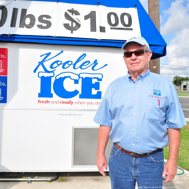 Anytime Ice & Water of Texas owner Steve Fisher keeps gas stations and convenience stores in the Eagle Ford Shale-producing region stocked with bags of ice.