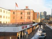 This 2010 photo of the existing North Loop Salvation Army live-work facility shows dramatic views of the Minneapolis skyline.