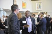 Hal Kempson of CBRE and Clyde Robinson of Jen-Kell Office Communities talk at Friday's CREQ Live event.