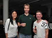 Liz Liao, a software developer and Uptown CoCo member, with friend John Reinke (middle) and Brent Huesers, a fellow CoCo member and Web developer.