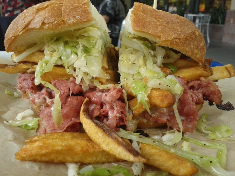 Bronx Bomber pastrami sandwich at Wicked 'Wich.