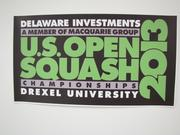 Delaware Investments is once again title sponsor for the U.S. Open Squash Championships