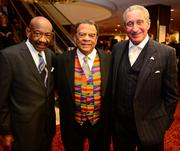 Herman Russell, Andrew Young and Arthur Blank.