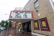 The exterior of the Apex Theatre, which sold at auction for $295,000 on Oct. 11.