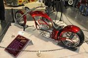 Gino and Denise Llacqua brought this fiery 2009 custom motorcycle to the 63rd Sacramento Autorama at Cal Expo.