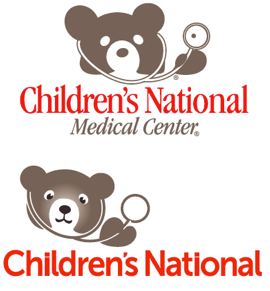 The old Children's National logo (top), and the new one (bottom.)