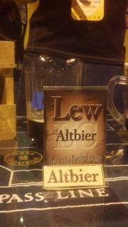 Lew Altbier, a beer made for famed beer lover Lew Cady by Dostal Alley brewery of Central City, is displayed at the 2013 Great American Beer Festival.