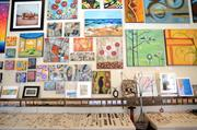 A wide variety of art by 50 local artists is on display in every corner of the main gallery.