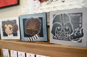 And then there's Star Wars art. Figures, I'd find the Star Wars art.
