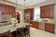 Lindell: The gourmet kitchen features a large butler's pantry.
