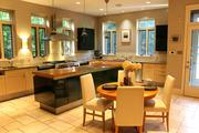 Hortense: The kitchen has high-end features and fixtures.