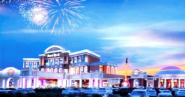 Rendering of the Menominee Hard Rock Casino planned for the former Dairyland Greyhound Park property in Kenosha