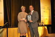 Karla Thommen of The Partners Group in the 100-499 employee category.