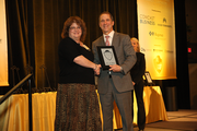 Karen Kinslow of Climax Portland Machine and Tools in the 100-499 employee category.