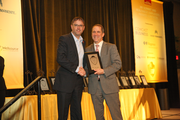 Chris Oxley of Rip City Management/Rose Quarter in the 5-99 employee category.